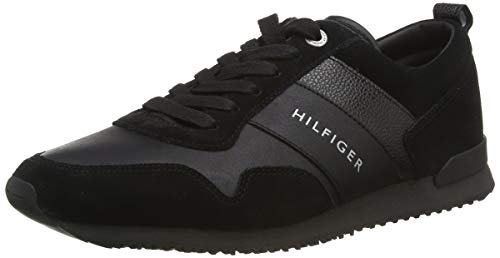Tommy Hilfiger Herren M2285AXWELL 11C1 Sneakers, Schwarz (Black), 44 EU