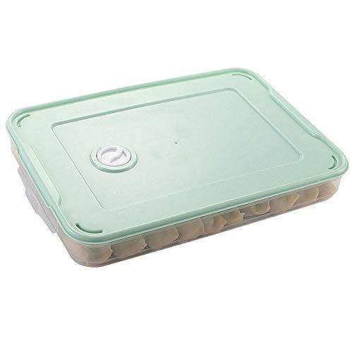 FSHB Refrigerador de microondas apilable Caja de Almacenamiento de Alimentos Organizador Caja Fresca Albóndigas Vegetales Huevo Soporte de Caja Accesorios de Cocina, Verde