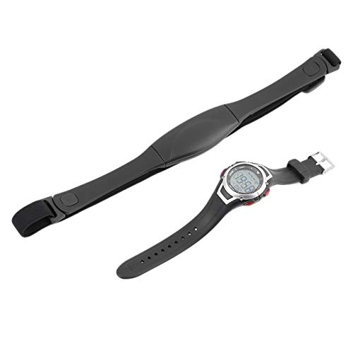Liobaba 3 Meter Waterproof Heart Rate Monitor Wireless Chest Strap Sport Watch Running Diving Watch with Back-Light Alarm Clock