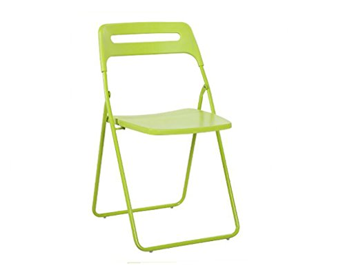 Chaise pliante Home Back Folding Chair Chaise bureautique Chaise simple style Dining Chair (Couleur : Vert)