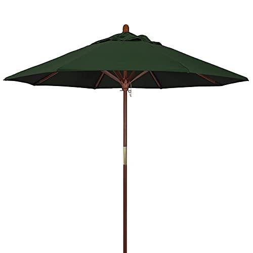 DSDD Sombrilla Sombrilla Grande para Exterior, Playa, Patio, sombrilla, toldo de Sombra con protección UV de 9 pies / 2,7 m con Poste de Madera, 8 Varillas, sombrilla de