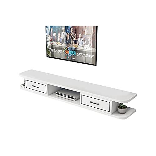 TV Cabinet set-top box, flytande tv-konsol, media nöjescenter, ämne tv-stativ (Size : 120cm)