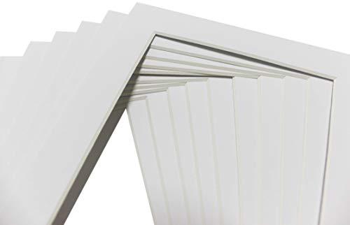 Chely Intermarket, Cartón paspartú Blanco, 18x24 cm (15x20 cm) (10 Unidades x Pack), Ideal para Fotos, Artes e interiorismo.