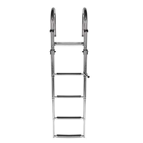 Échelle pliante en acier inoxydable pour escalier de quai marin avec mains courantes Échelle pour...