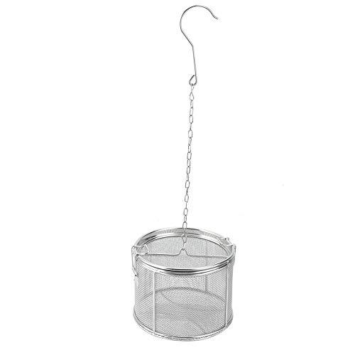 Dibiao Colador de Bolas de Té de Acero Inoxidable Condimentos para Sopa Cesta de Separación Filtro de Especias 10X10 Cm