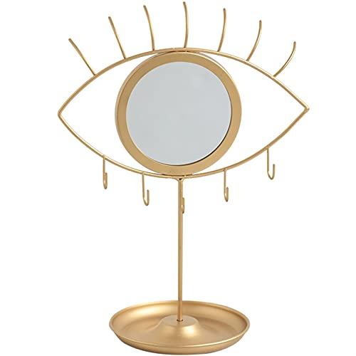 HYAN Exhibición de Joyería Soporte de exhibición de Joyas con Espejo de Ojos, Organizador de Joyas Pantalla de exhibición para Cadenas/Colgantes/Pendientes/Relojes/Pulseras Organizadores de Joyas