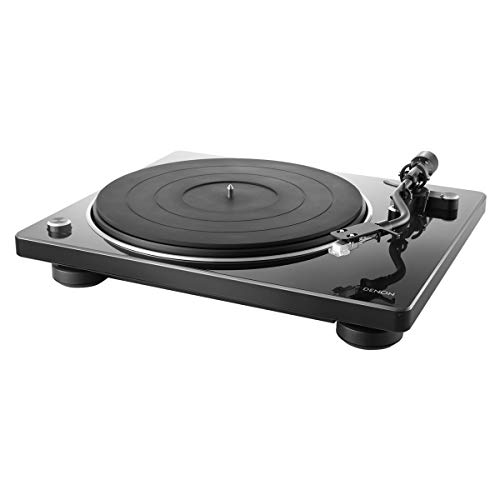 Denon DP-400 Semi-Automatic Analog Turntable with Speed Auto Sensor | Specially Designed Curved Tonearm | Supports 33 1/3. 45, 78 RPM (Vintage) Speeds | Modern Looks, Superior Audio