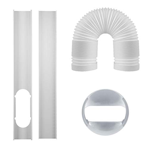 Mothcattl 4Pcs/Set Window Seal Plates Kit for Portable Air Conditioners Pipe, Vent Kit for Mobile Air Conditioner Flat Mouth Adapter Pipe White