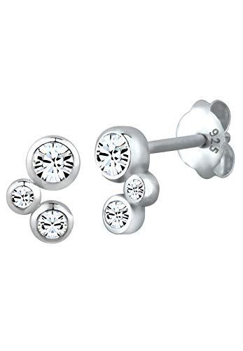 Elli Ohrringe Damen Geo Stecker mit Swarovski® Kristalle 925 Sterling Silber