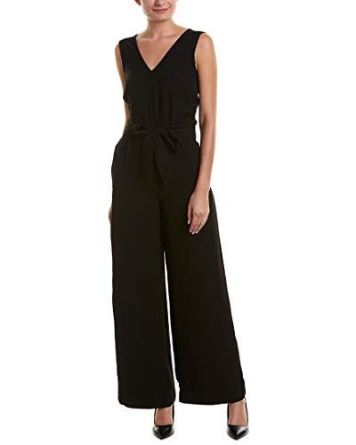 Max Studio Women's Sleeveless Tie Waist Jumpsuit, Black, M