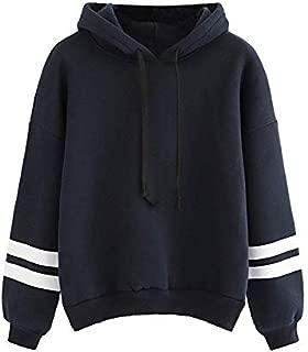 Khhalisi Women's Fleece Varsity Strip Hoodie Sweatshirt