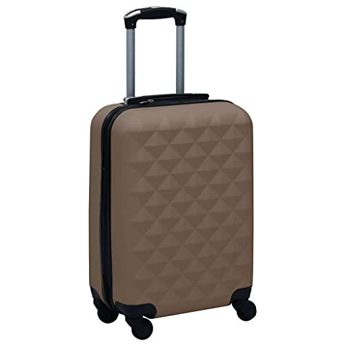 HUANGDANSP Maleta rígida con Ruedas ABS marrón Maletas y Bolsos de Viaje Maletas