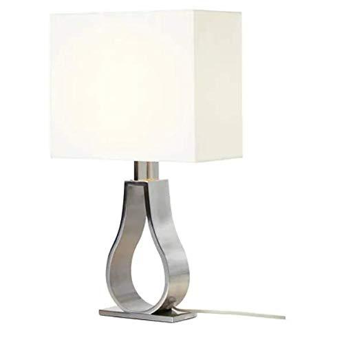 KLABB IKEA lámpara de Mesa en elfenbeinweiß; niquelado; (44); A + +