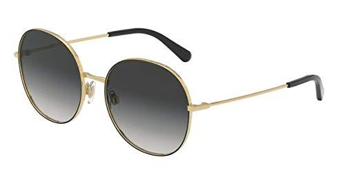 Dolce and Gabbana Damen 0DG2243 Sonnenbrille, Gold/Black, 56