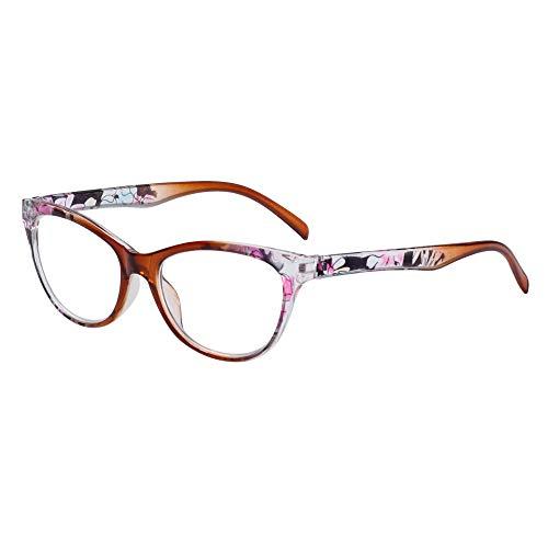 Hombres Mujeres Ultra Ligero luz de la Resina de Aumento Lentes Vision Care Gafas presbicia Gafas de Lectura (Fuerza 2.50, Brown)