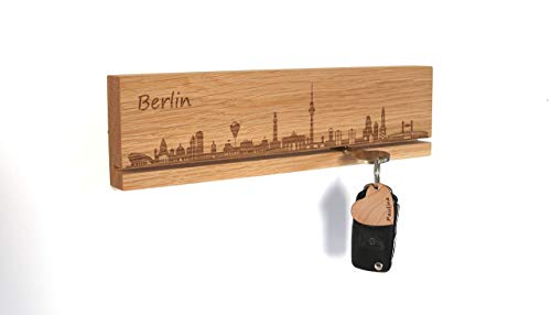 Schlüsselbrett, Geschenk mit Skyline, Panorama Stadt Berlin, München, Hamburg, Köln, Frankfurt, Nürnberg, Stuttgart, Düsseldorf, Leipzig uvm