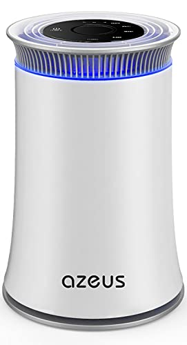 AZEUS Air Purifier for Home Allergies Pets Hair in Bedroom, Up to 528 sq ft Large Room, H13 True HEPA Filter, 25db Filtration System Cleaner Odor Eliminators, Ozone Free, Remove 99.97% Dust Smoke Pollen