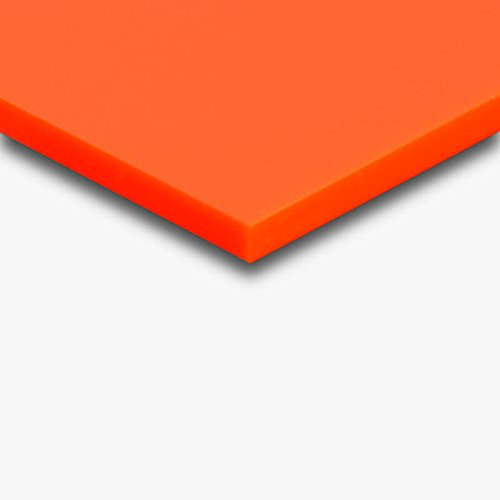 3 mm PLEXIGLAS® orange GS 2H02 GT - oranges Acrylglas mit einer Lichtdurchlässigkeit von 6% - Maße: 50x25x0,3 cm