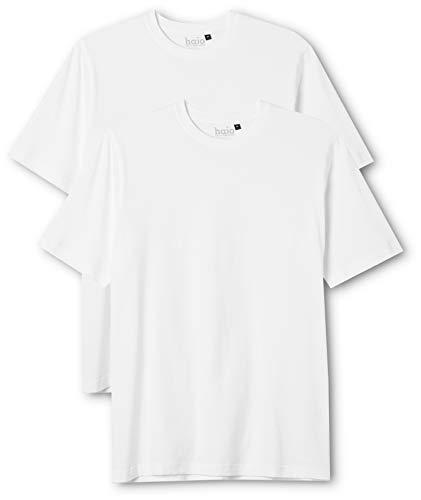 hajo Herren 22001/4 T-Shirts, Weiß (weiß 200), Small (Size:48) (2er Pack)