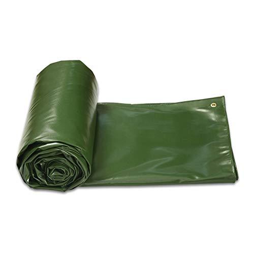 ZEMIN Bâche Protection Couverture Transparente Imperméable Solaire Tente Drap Haute Qualité Plein Air PVC, Vert, 580G/ M², 8 Tailles Disponibles (Color : Green, Size : 2.9x3.9m)