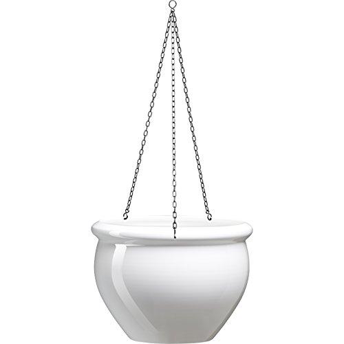 Emsa 512667 Siena Nobile - Vaso da Appendere, 7 L, Colore: Bianco Perla