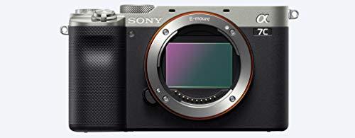 Sony Alpha 7C   Appareil photo numérique Hybride à objectif interchangeable à capteur plein format (compact et léger, Eye AF en temps réel, 24,2MP, stabilisation 5 axes, viseur, écran selfie)