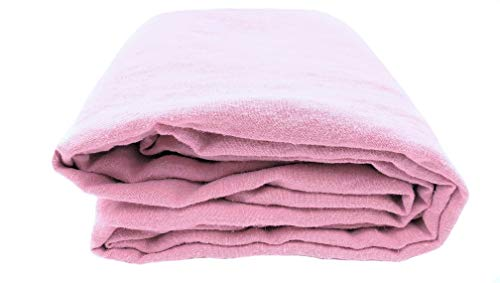 JOWOLLINA 100% Leinen Stonewashed Bettlaken Laken 240x250 cm, Pink Rosa