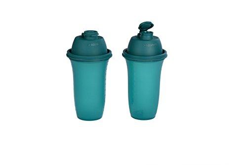 Signoraware Shake n Shake avec paille Lot, 500 ml, Lot de 2 vert forêt