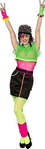 Orlob Damen Kostüm 90er Jahre Netzoberteil Karneval Fasching Party Gr.S/M