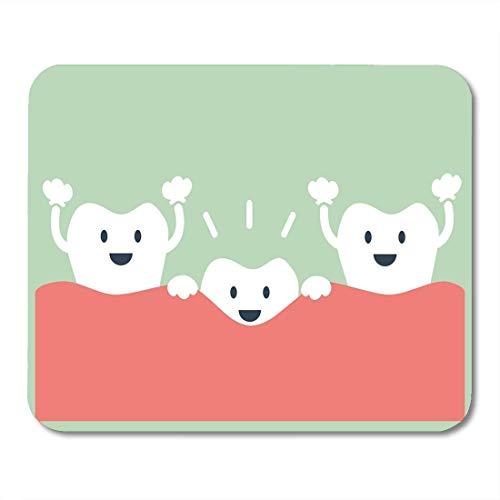 Mauspads Mauspads Happy Baby Dental Cartoon Zähne wachsen erste Milch Mausmatten Mauspad Geeignet für Notebook-Desktop-Computer