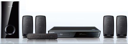 Samsung HT-BD1250R cine en casa - Equipo de Home Cinema (Reproductor de DVD, 1000W, 5.1, MP3, 100,1 x 99,1 x 210 mm, 300 x 57,3 x 48 mm)