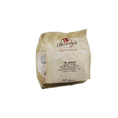 ODC MADE IN ITALY Kit de 100 CAPSULAS DE TÉ VERDE Compatibles con las Máquinas de Café Nespresso
