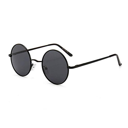 WOXING para Los Hombres Mujere Gafas,HD Súper Ligero Polarizadas Gafas,Metal Marco Pequeño Gafas,Vintage Retro Gafas De Sol-A 12.9x4.7cm(5x2inch)