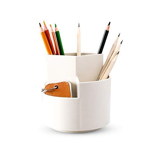 XGzhsa Portalápices originals, organizador de escritorio creativo, portalápices giratorio multifuncional para escuela,...