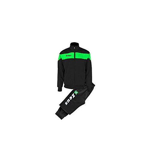 Zeus Tuta Apollo Chándal de Fútbol Sala para Hombre Complemento Relax Pegashop Colour Negro-Verd Fluo