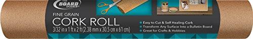 Board Dudes Hobby Cork Roll 1-Feet Wide x 2-Feet Long 3/32 Inches Thick (CYC94)