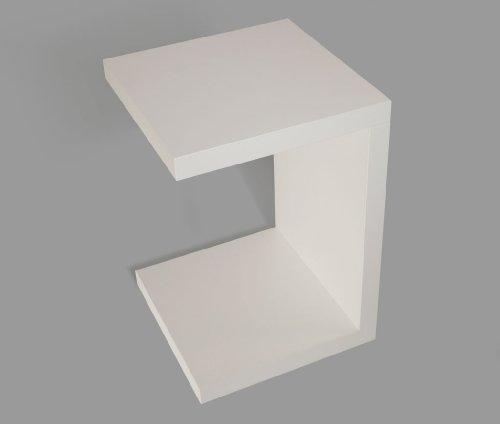 levandeo Beistelltisch Coco Weiß 32x32cm Höhe 50cm Keine Montage fest verleimt Holz Couchtisch Tisch Sofatisch