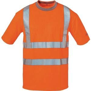 Feldtmann 22712 L Safestyle Warnschutz UV-T-Shirt, Orange, L