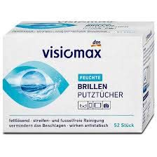 Visiomax Feuchte Brillen Putztücher - 52 Stück