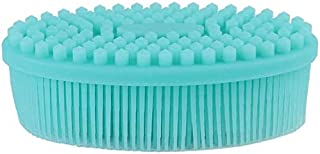 Easyinsmile Newborn Baby Toddler Hair Wash Brush Soft Silicon Bath Massage Brush to Prevent Dandruff Cradle Cap, or Flakes, Face Cleanser Facial Cleansing Scrubber (Blue)