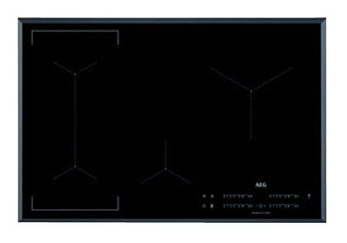 AEG – Placa de inducción IKE 84443 FB de cristal biselado negro...