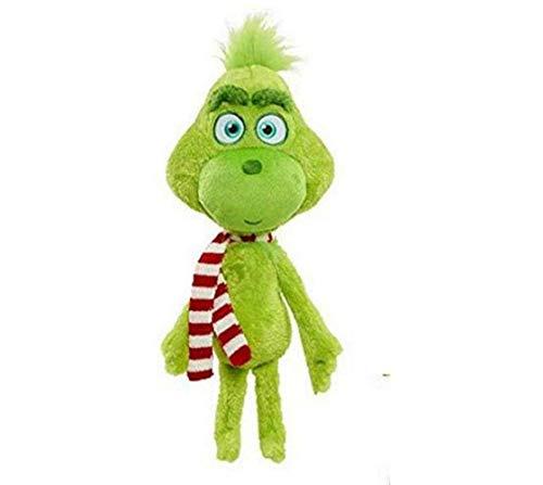 Weihnachten Grinch Plüsch Puppe Wohnkultur Sammeln 3D Hund Plüschtier Gefülltes Bett Puppen Kuschelkissen Cosplay Spielzeug Kissen Kinder Erwachsene Weihnachten Neujahr Geschenk (C, 32cm)