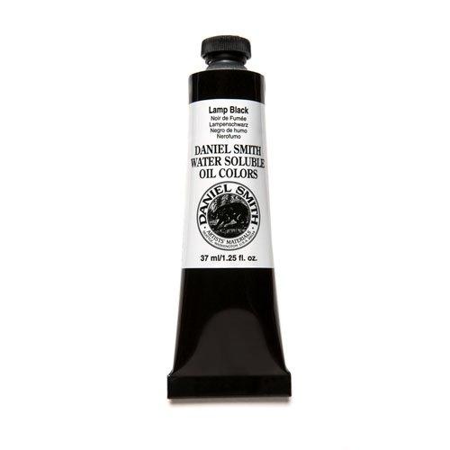 DANIEL SMITH 284390013 Water Soluble Oils Paint Tube, 37 ml, Lamp Black