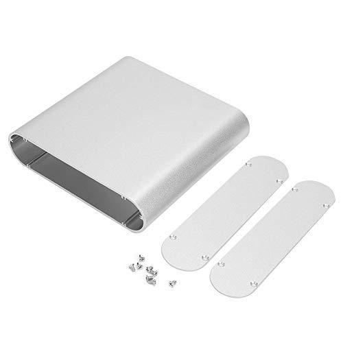 Leiterplatte Instrumentenkasten-Elektronisches Projektinstrument Aluminium-Kühlbox Runder Seitenwechselrichtergehäuse 40 * 165 * 160 mm