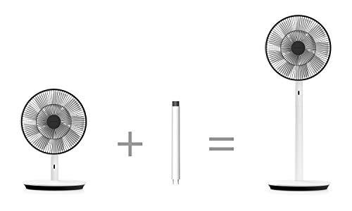 バルミューダザ・グリーンファン(ホワイト×ブラック)扇風機DCモーター二重構造の羽根超静音BALMUDATheGreenFanEGF-1700-WK