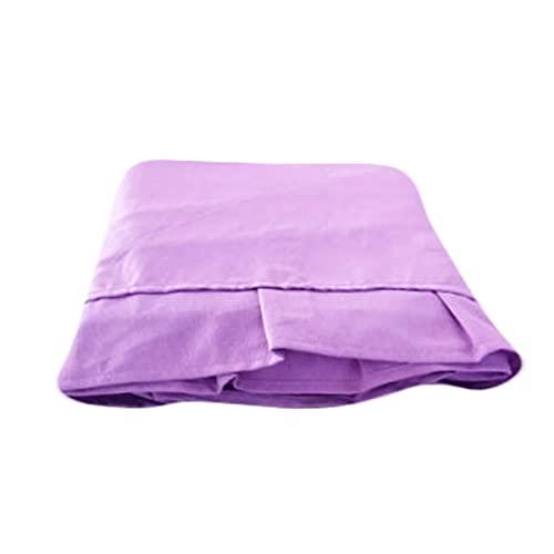 Leichte Frühlings-Tagesdecke aus Baumwolle, für französisches Bett, Kissenbezug, lila Volant