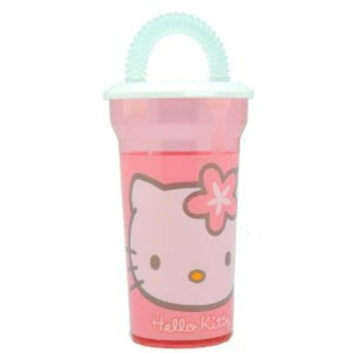 GIM - Verre Hello Kitty avec Paille