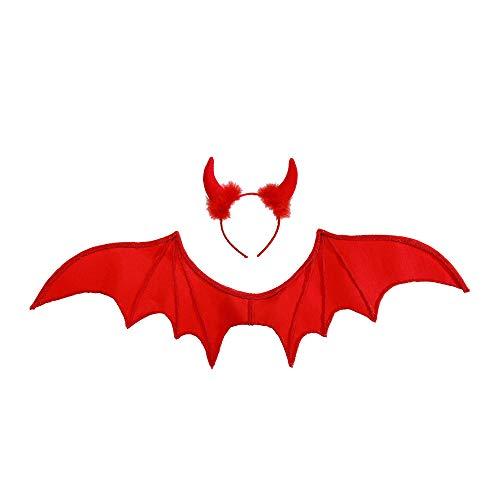 Widmann- Red Devil Set Travestimento per Bambini, Multicolore, 8237A