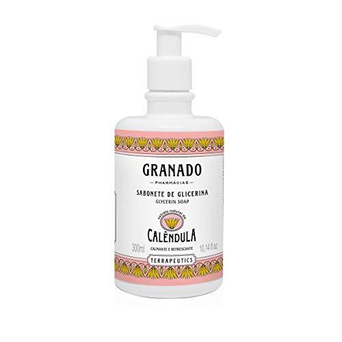 Sabonete Líquido Terrapeutics Calêndula, Granado, Rosa Claro, 300ml