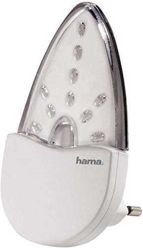 """Hama \""""Bernstein\"""" LED Nachtlicht für Kinderzimmer und Schlafzimmer (stromsparend, nur 0,2 W, Orientierungslicht für Gang und Keller, Stimmungslicht, Nachtlampe, Eurostecker)"""